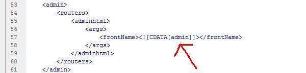 修改magento后台地址代码