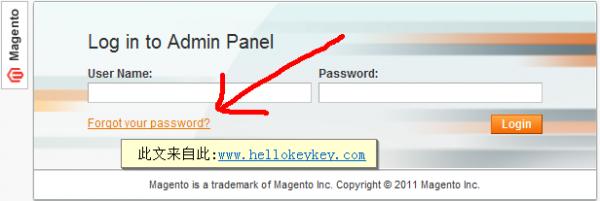 magento邮箱找回后台密码